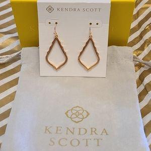 Nwt! Kendra Scott Sophia rose gold drop earrings